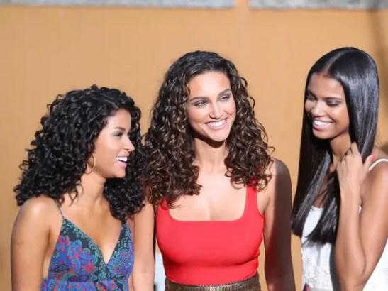 Actress Débora Nascimento, center, in a new commercial for Seda