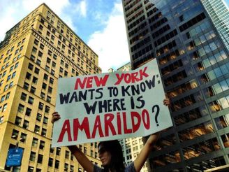 "In the US (New York): ""Where is Amarildo?"""