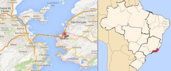 Niterói-Rio de Janeiro area (left), Rio de Janeiro state (right)