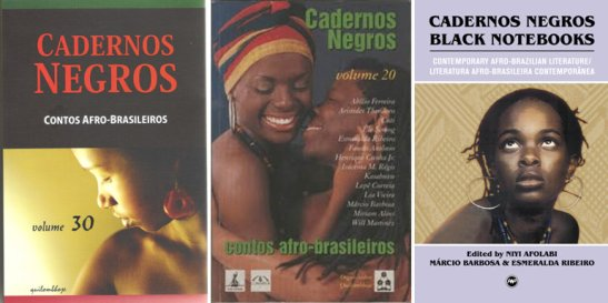 Volumes of the Cadernos Negros series by the Afro-Brazilian literature collective Quilombhoje