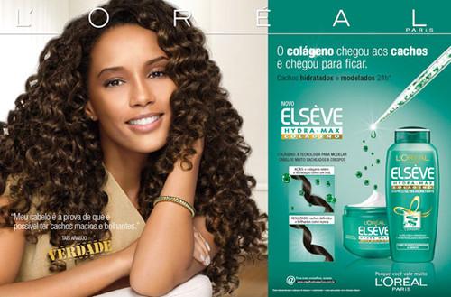 Actress Taís Araújo in an ad for L'Oreal