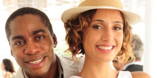 Actor Lázaro Ramos and actress Camila Pitanga
