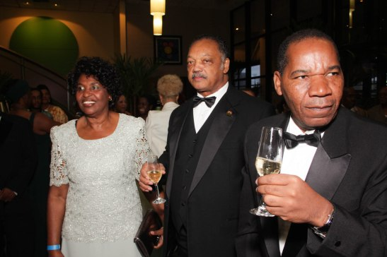 Jackson shares a toast with prominent political figure Benedita da Silva and Vicente at a pre-award ceremony at the Holiday Inn Parque Anhembi in São Paulo on November 17, 2013