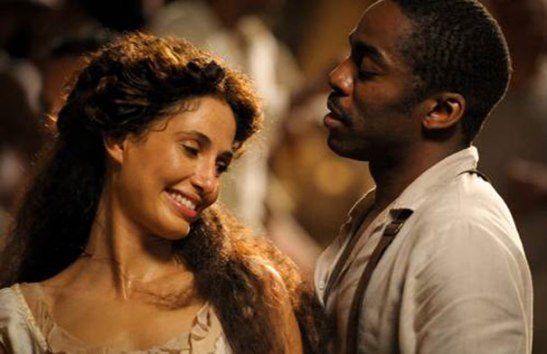 """Pitanga and Ramos. The cast of """"Lado a Lado"""" featured nine Afro-Brazilian actors in prominent roles"""