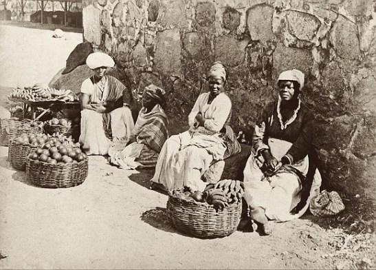 Furit and vegetable vendors in Rio de Janeiro, Rio de Janeiro, cerca 1875