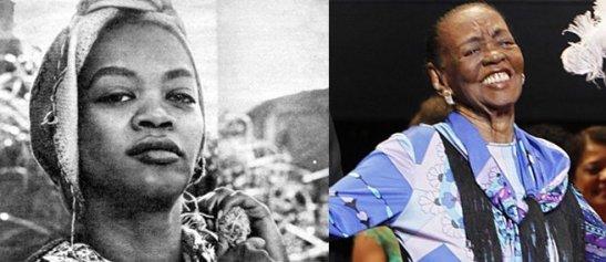 Actress Ruth de Souza in the 1960s (left) and at the Grande Prêmio ceremony in November
