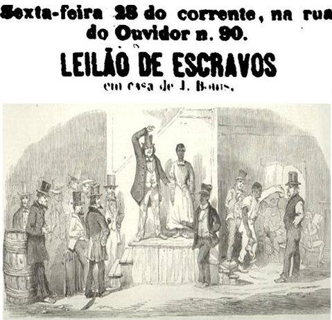 Leilão de escravos - Slave auction