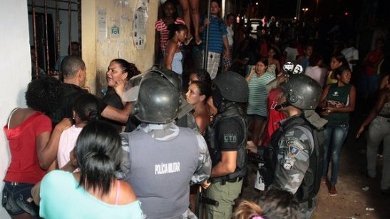 Military Police try to contain a rebellion in the prison
