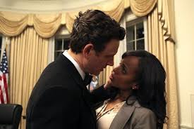 "Actress Kerry Washington (right) in a scene from the ABC TV drama ""Scandal"""