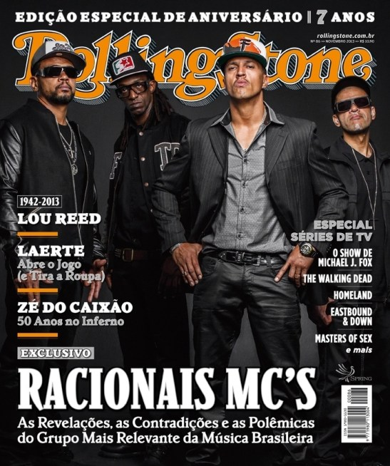 Racionais MCs featured on the cover of Rolling Stone Brasil magazine in November 2013
