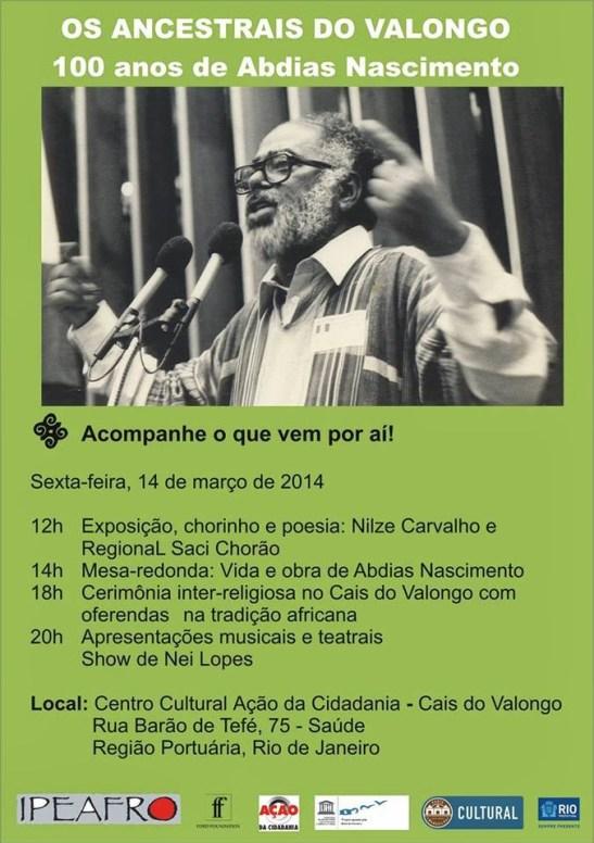 Event celebrates 100 years of the birth of Abdias do Nascimento