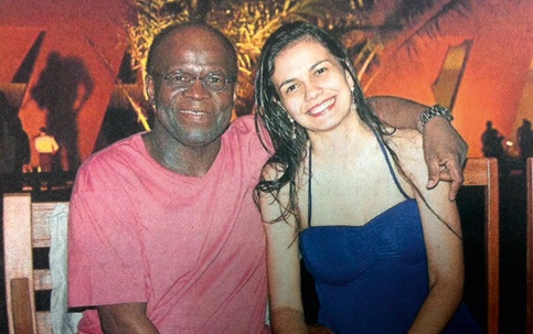 Joaquim Barbosa, Brazil's first black president of the Supreme Court, with girlfriend