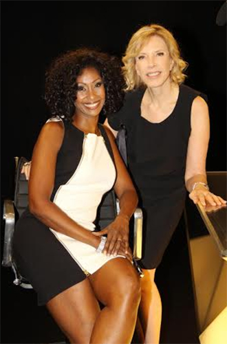 With journalist Marília Gabriela