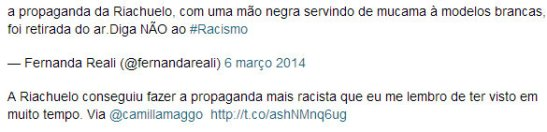 Comments about Riachuelo ad
