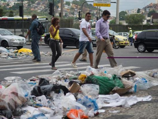 The accumulation of trash was made worse by the added burden of Carnaval festivities