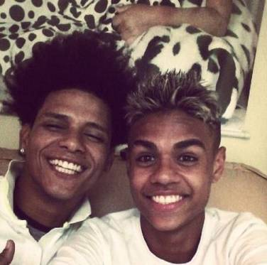 Douglas with friend MC Cabelinho