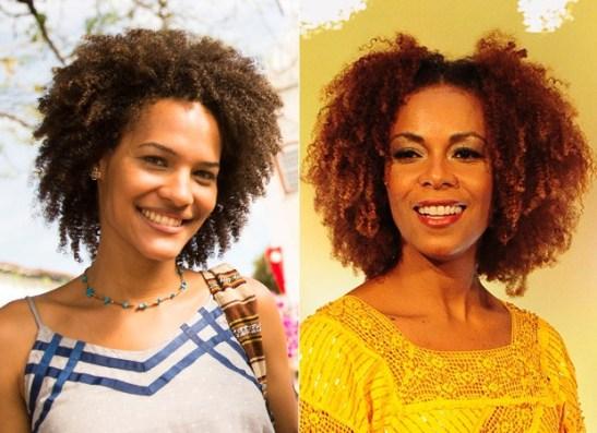 Jessica Barbosa and Lica Oliveira are other actresses who show off their curls in the novela Em família (Photo - João Miguel Júnior and João Cotta)
