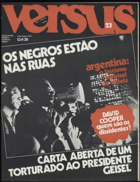 """1978 issue of Versus magazine: """"The negros are in the streets""""."""