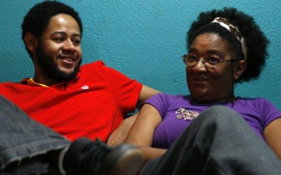 Popular rapper Emicida with his mother Jacira