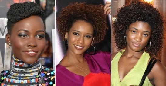 Erika, at right, along with two of her references Kenyan-Mexican actress Lupita Nyong'o and Brazilian actress Taís Araújo