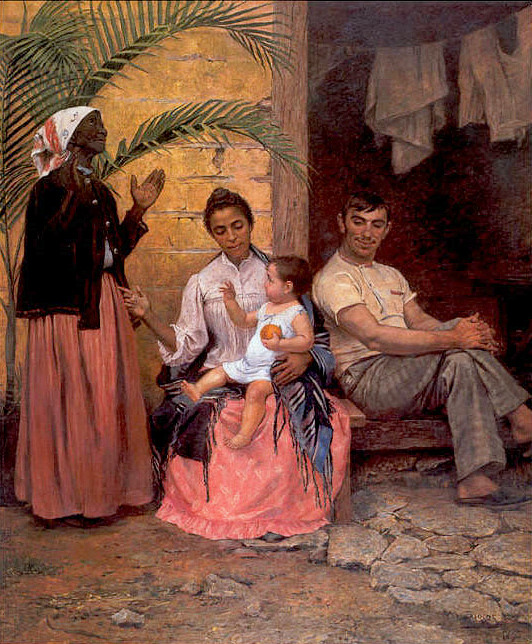 A Redenção de Cam (The Redemption of Ham) by Modesto Brocos, 1895. The painting has been used to propagate miscegenation
