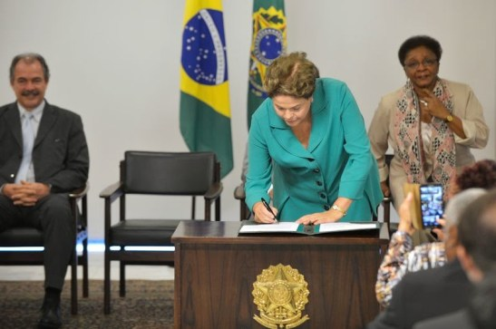 President Rouseff signs bill into law