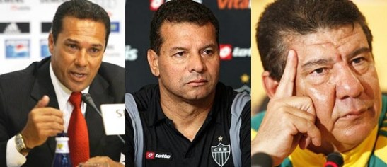 Coaches Wanderley Luxemburg, Celso Roth and Joel Santana