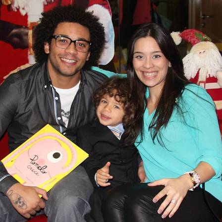 Marcelo, Clarisse and son Enzo