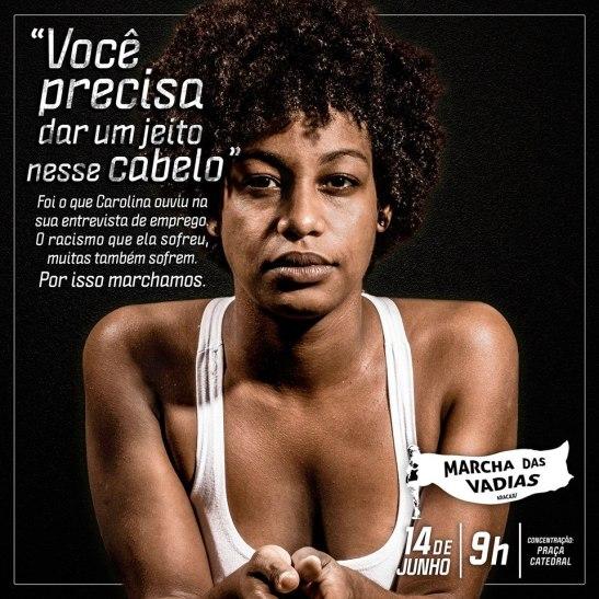 Marcha Aracaju - Cabelo - Carolina (June, 5, 2014)