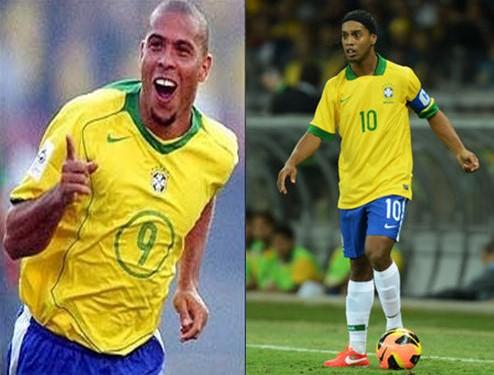 Ronaldo and Ronaldinho Gaúcho