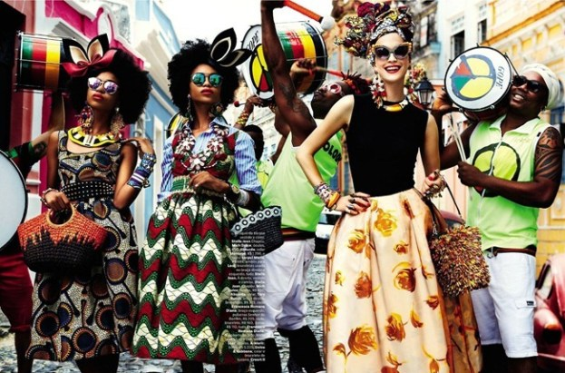 """Carmen Miranda Re-Loaded"": Vogue Brasil magazine February 2013"