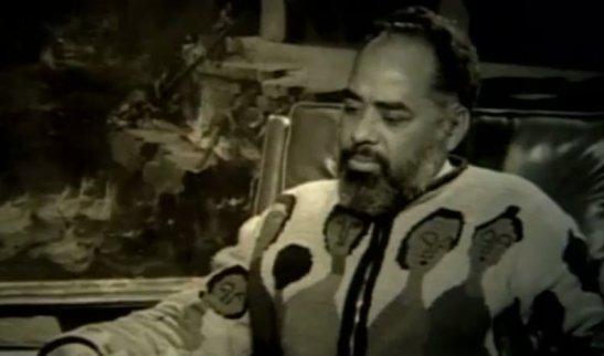 Activist Abdias do Nascimento (1914-2011) in a 1970 interview