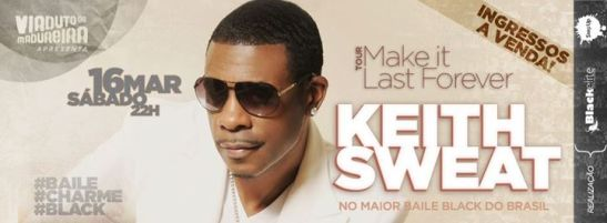 Flyer announcing the appearance of American R&B singer Keith Sweat