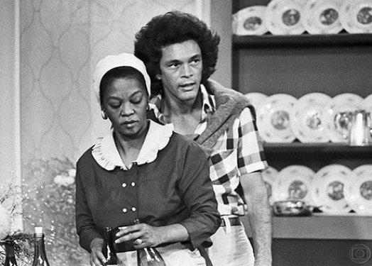 Veteran actress Ruth de Souza portrays the domestic Lurdes in the 1974-75 series 'O Rebu'