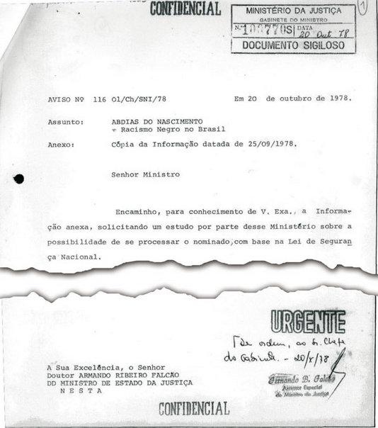 At one point, Brazil's intelligence agency, the SNI (Serviço Nacional de Informações) thought of framing Nascimento to curtail his activism