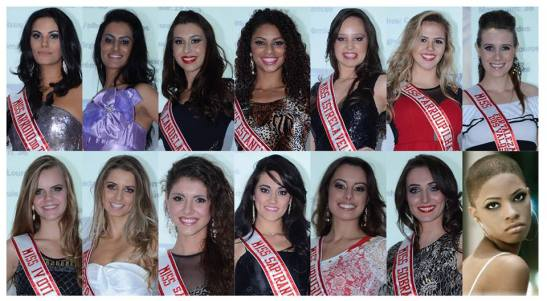 Contestants in the Miss Rio Grande do Sul Latina 2014 contest