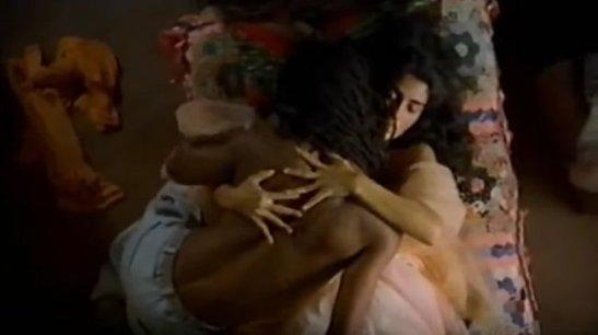 """Toni Garrido and Patrícia França in """"Orfeu"""" (1999)"""