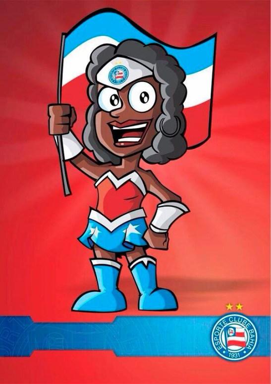Bahia lança mascote negra, a Lindona da Bahêa, para fortalecer a luta contra o racismo no futebol