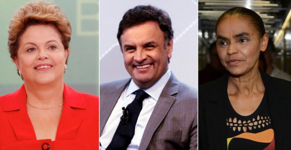 Candidates to the Presidency in Brazil - Dilma Rousseff, Aécio Neves and Marina Silva