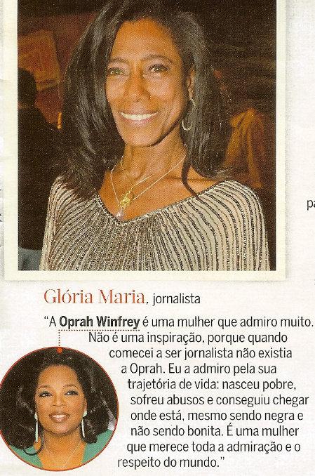 Glória Maria on Oprah Winfrey
