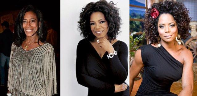 Glória Maria, Oprah Winfrey and Adriana Bombom