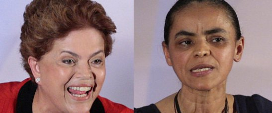 Current President, Dilma Rouseff and candidate Marina Silva