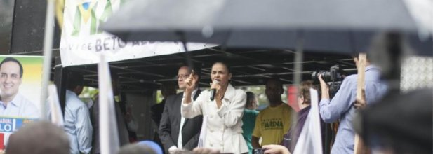 Marina Silva in a rally in São Bernardo do Campo