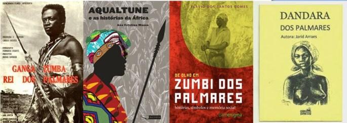 Afro-Brazilian heroes - Zumbi, Ganga Zumba, Dandara, Aqualtune