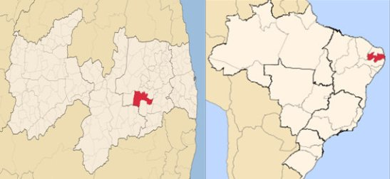 Campina Grande, Paraíba in northeastern Brazil