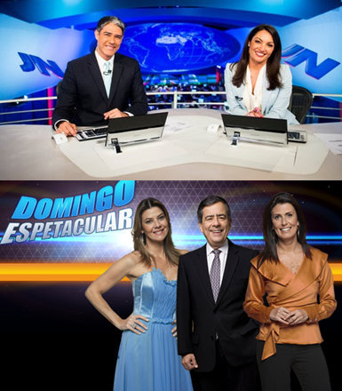 Top journalists and hosts of Globo and Record TV networks