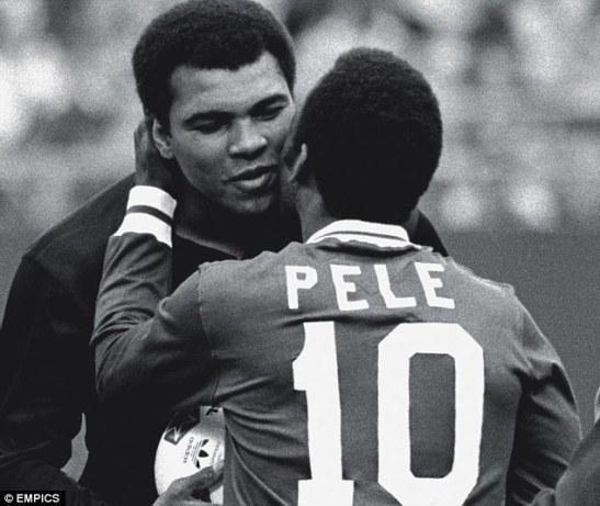 Sports icons Pelé and Muhammad Ali