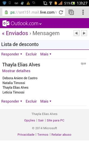 "Email shows that Thayla Alves and friends sent their names to the Villa Mix list. Young woman was prevented from entering and claims to have been called ""neguinha"" by nightclub receptionist"