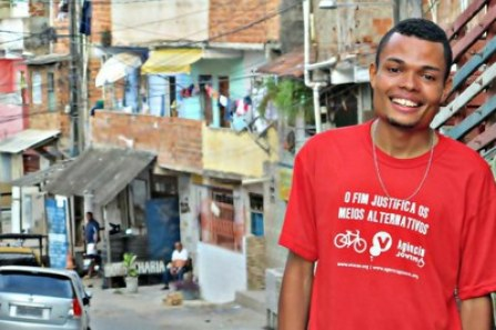 Activist Enderson Araújo had to flee Salvador after a threat from the military police