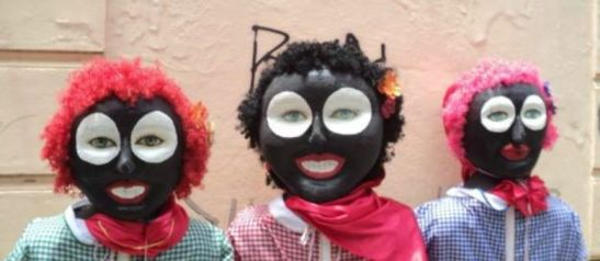 Participants of the 'Domésticas de Luxo' Carnaval bloco